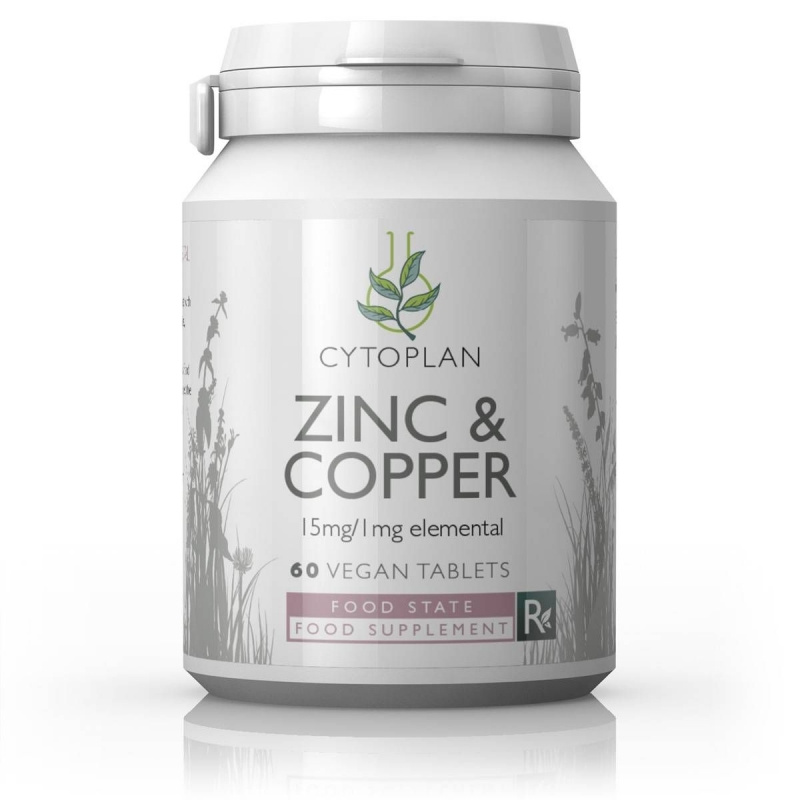 Zinc & Copper 15mg/1mg  60s