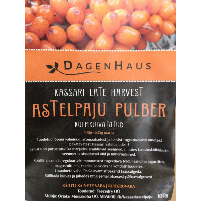 Astelpaju pulber Kassari Late Harvest 100g