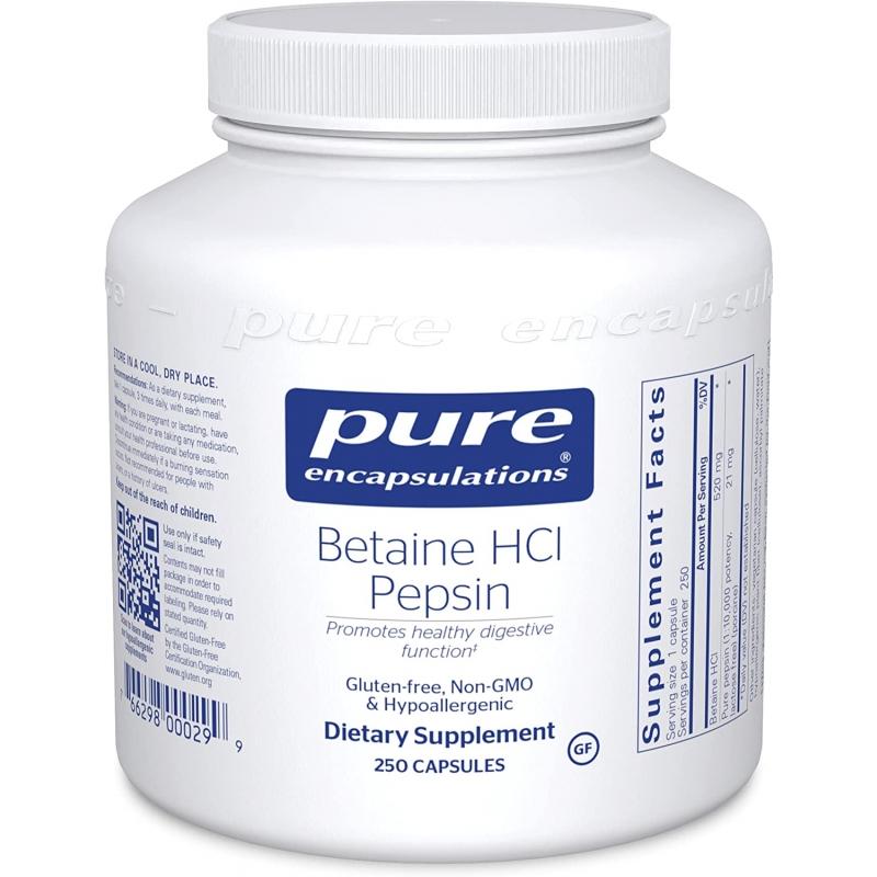 Betaine HCl Pepsin 250caps