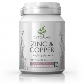 Zinc & Copper 15mg/1mg  60s